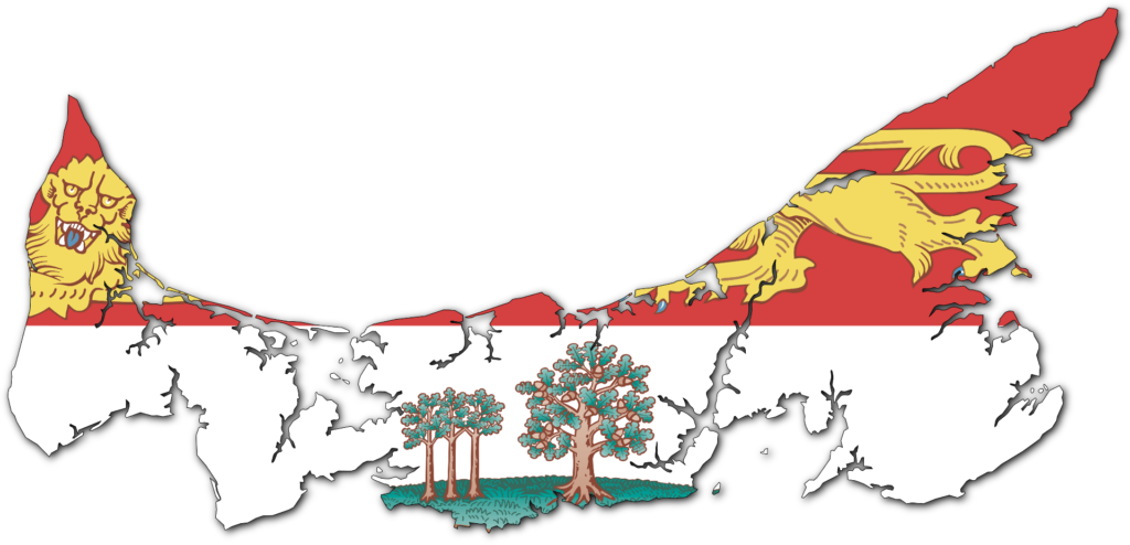 Flag Map of PEI
