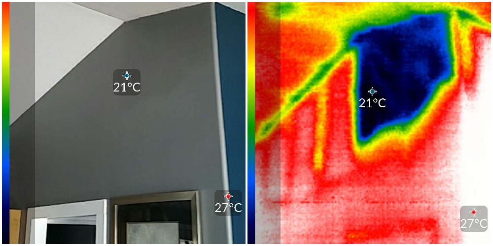 Missing Insulation found using thermal imaging during home inspection